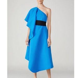 NWT HERVE LEGER Asymmetrical One-Shoulder Dress